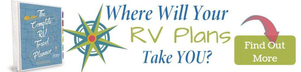 Keep all your RV trip ideas and travel reservations organized with this planner!