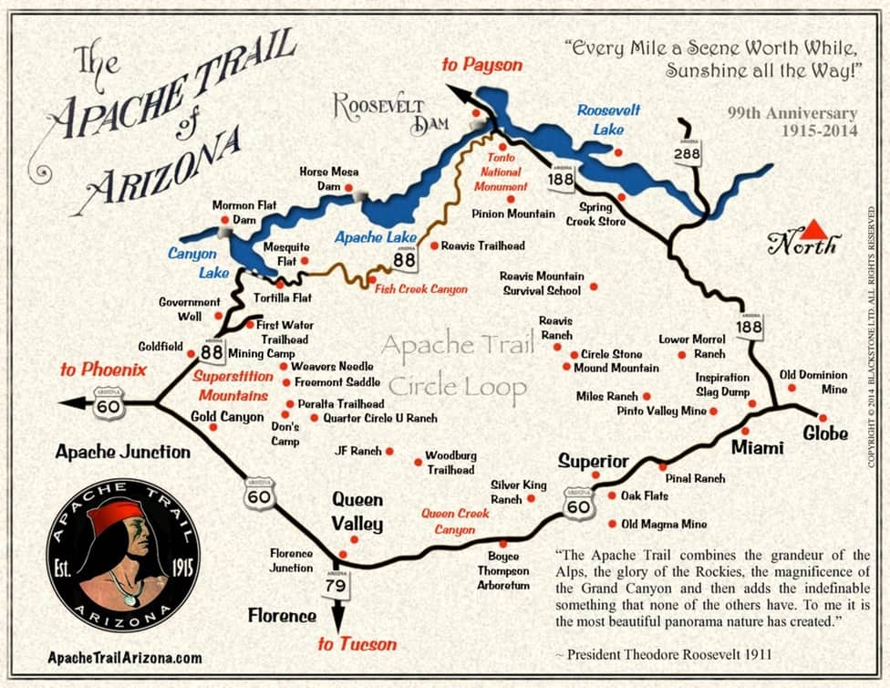 Map of the Apache Trail