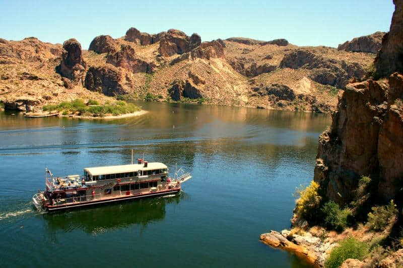 View of Riverboat from the Apache Trail