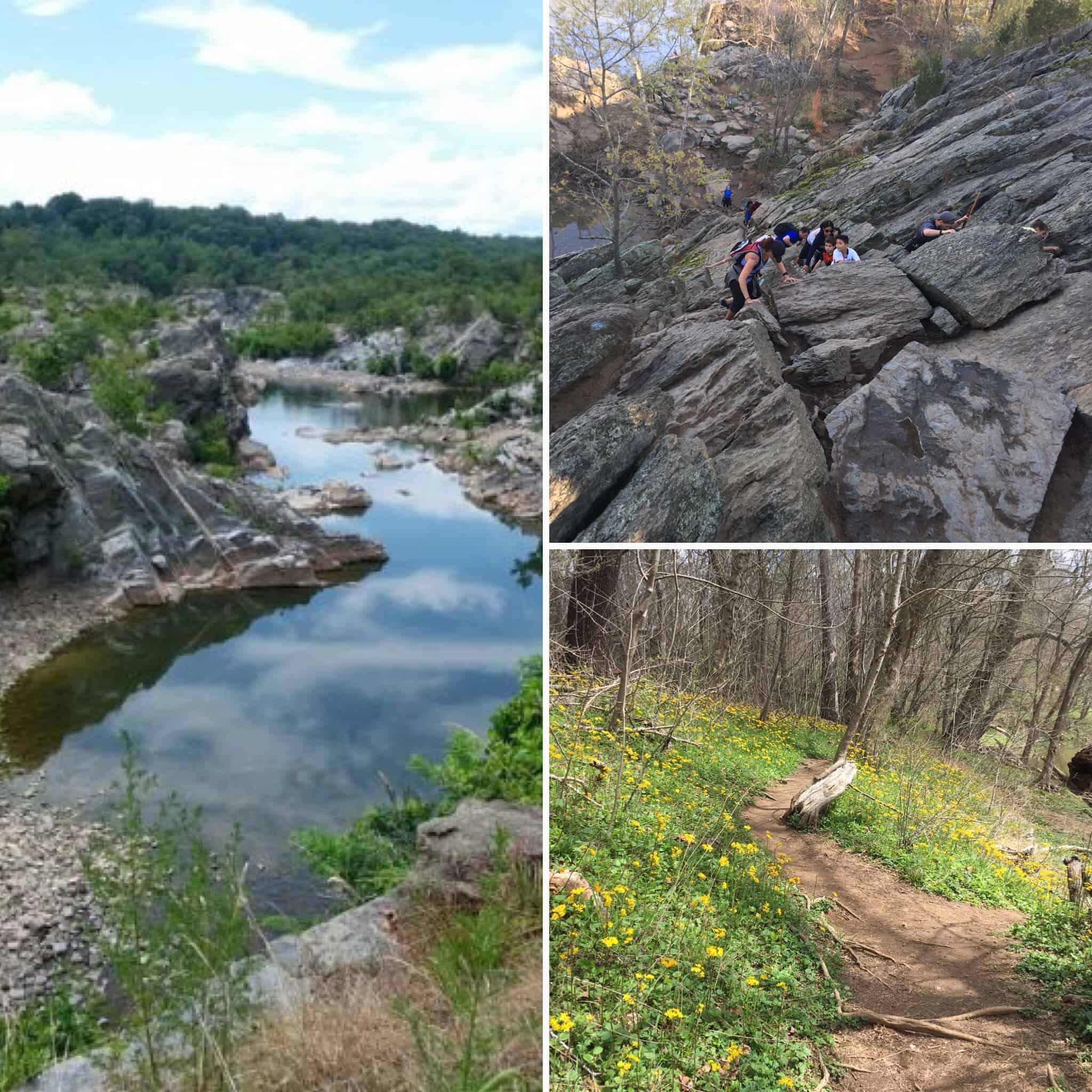 Collage of pictures from the Billy Goat Trail
