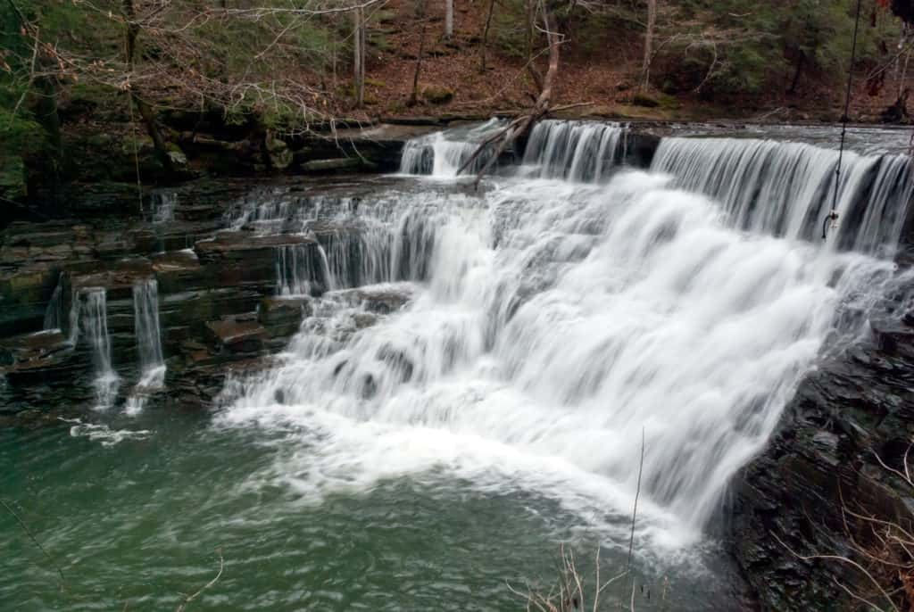 Waterfalls at Window Cliffs State Park in Tennessee