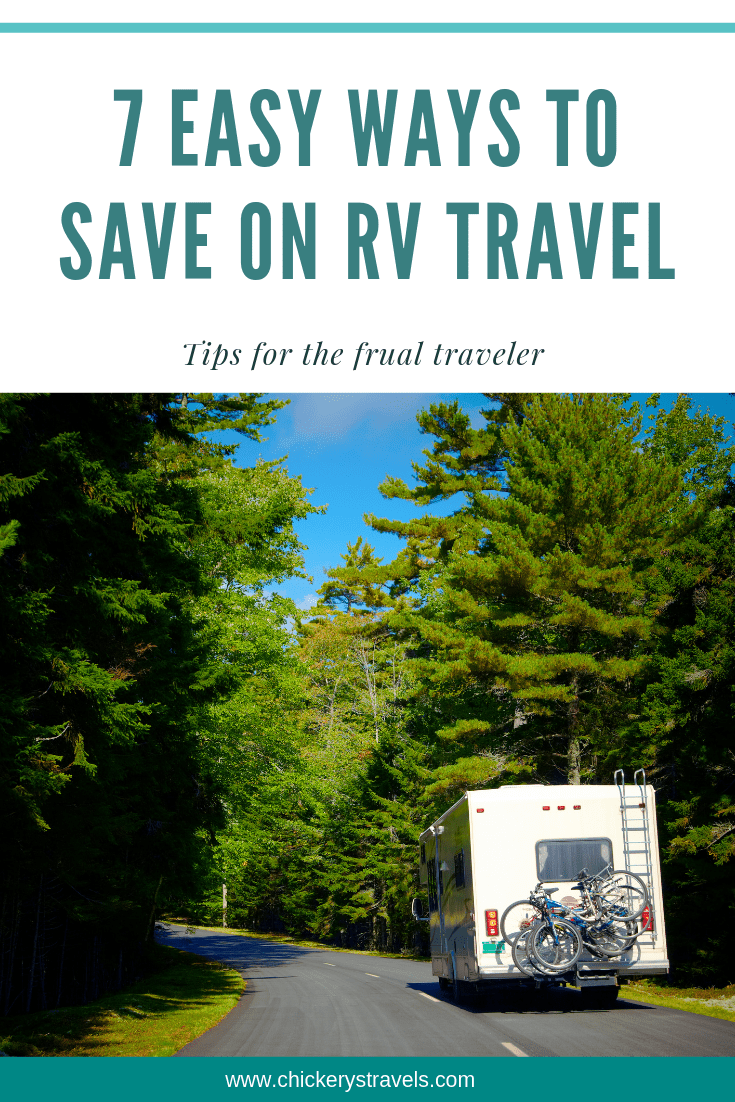 Follow these tips to save money on RV travel. Ideas and tricks for saving money on campgrounds, fuel, food, and more on your family road trip. Using these techniques to save money will make everyone a happy camper on your next RV vacation!
