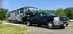 Heartland Cyclone and Chevy Silverado HD