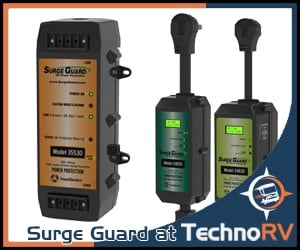 Protect your RV power system with a surge guard.