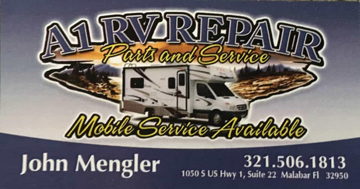 A1 RV Repair Business Card