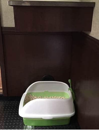 Cat litter box in RV
