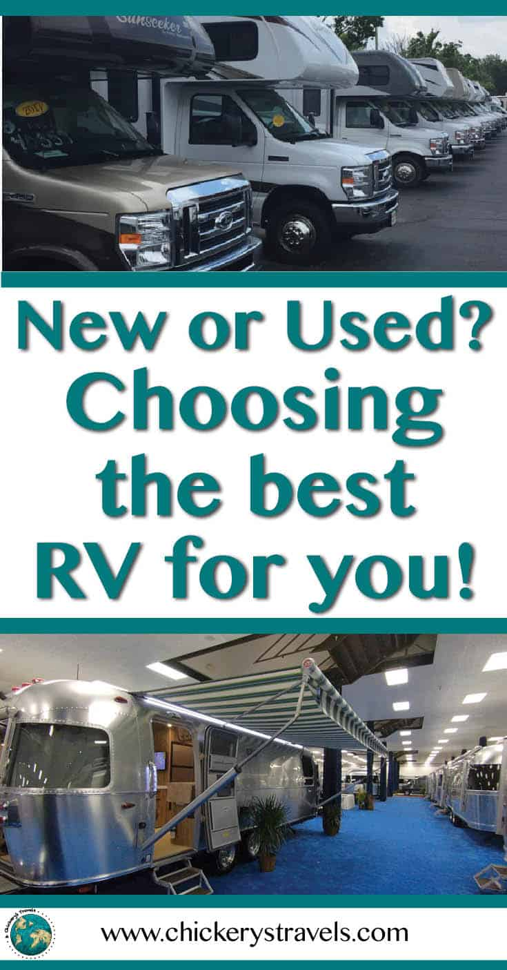 Wondering if you should buy a new or used RV? How do you know which camper is the best for you? Read our tips and for purchasing an RV, motorhome, travel trailer, or camper.