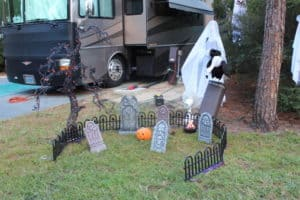 Fort Wilderness Halloween Decor Cemetery