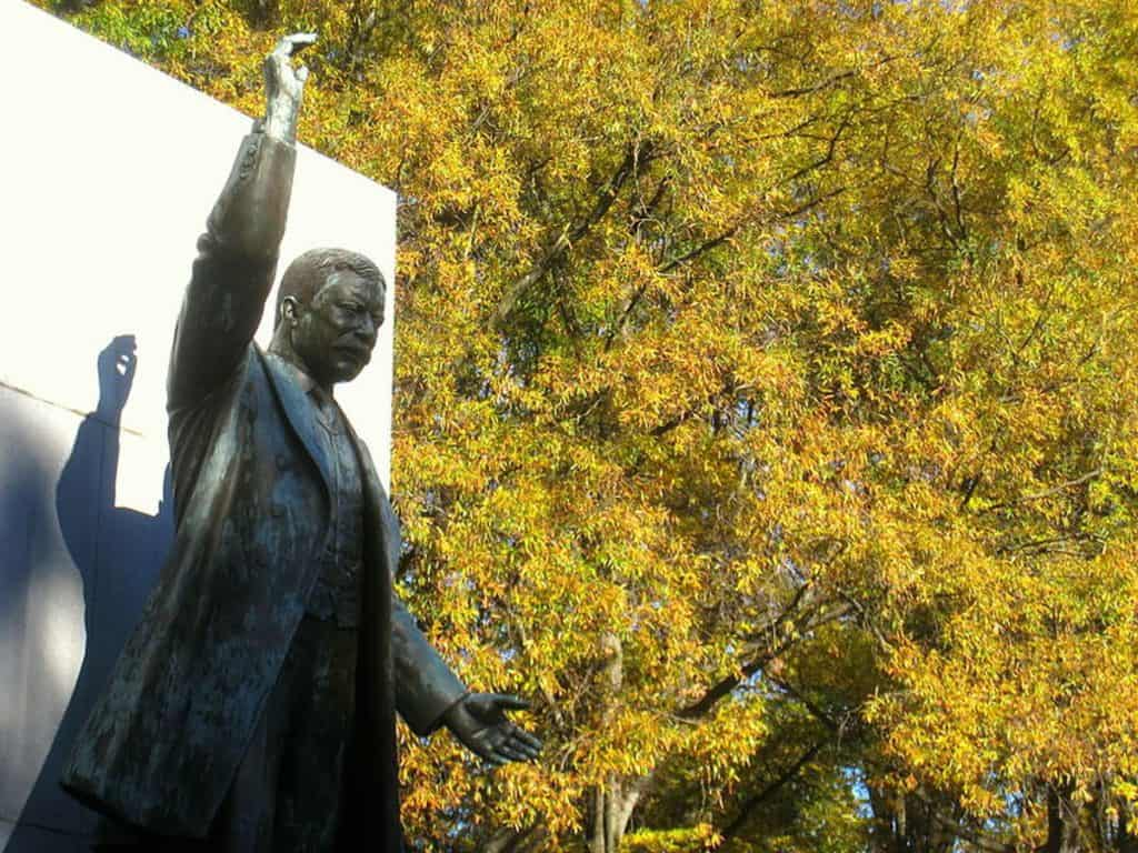 Theodore Roosevelt Island statue