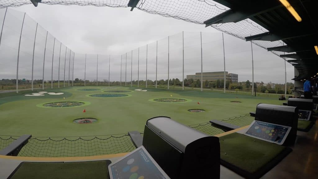Top Golf booth