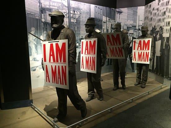 Exterior Civil Rights Museum Strike Display