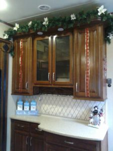 Fifth Wheel RV Christmas Decor