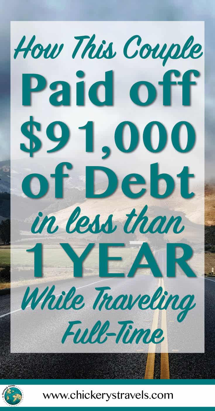 Learn how we paid $91,000 in debt in less than a year while traveling full-time. Get tips for paying down debt quickly and start building wealth. We follow the baby steps by Dave Ramsey and the progress is allowing us to live our full-time travel dreams.