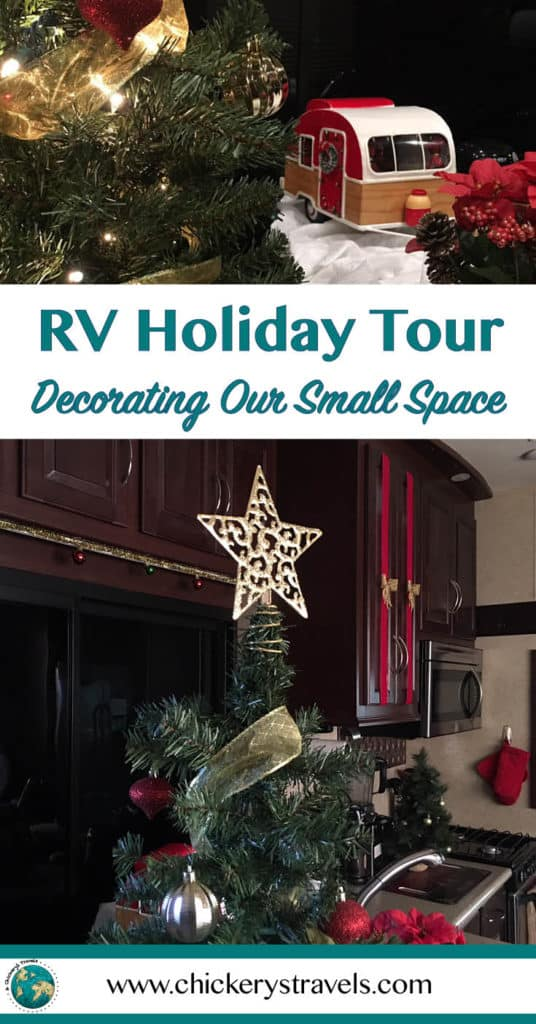 See how you can decorate your RV for the Christmas holidays. Whether you have a motorhome, fifth wheel, travel trailer, or pop up camper, get creative this holiday season and don't be afraid to make your space festive. See my RV Christmas decorations here!