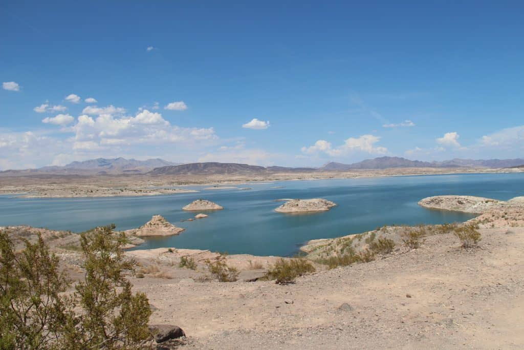 Camping at Lake Mead near Boulder City Neveda