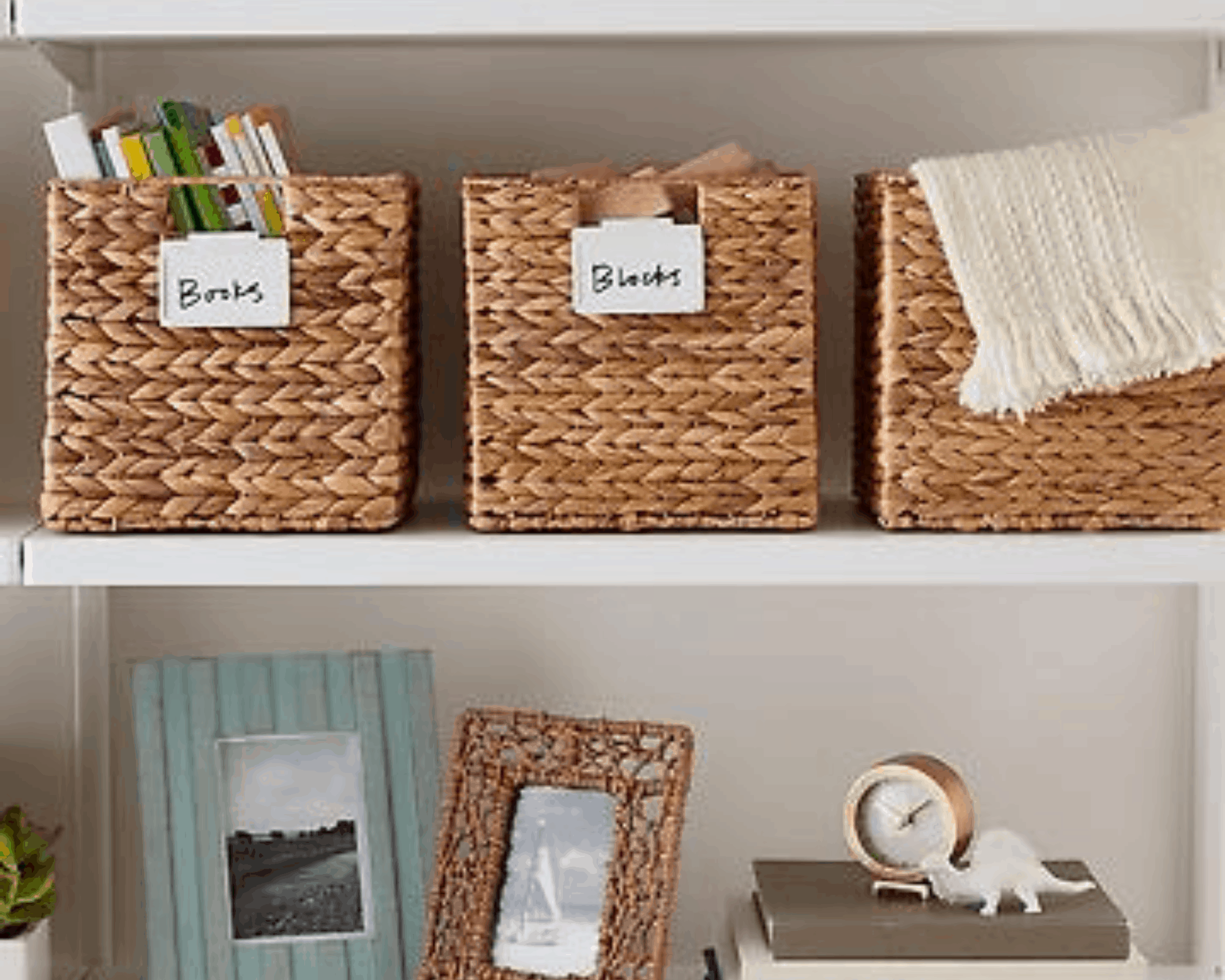 Storage bins of all shapes and sizes help keep things organized in your RV or camper.