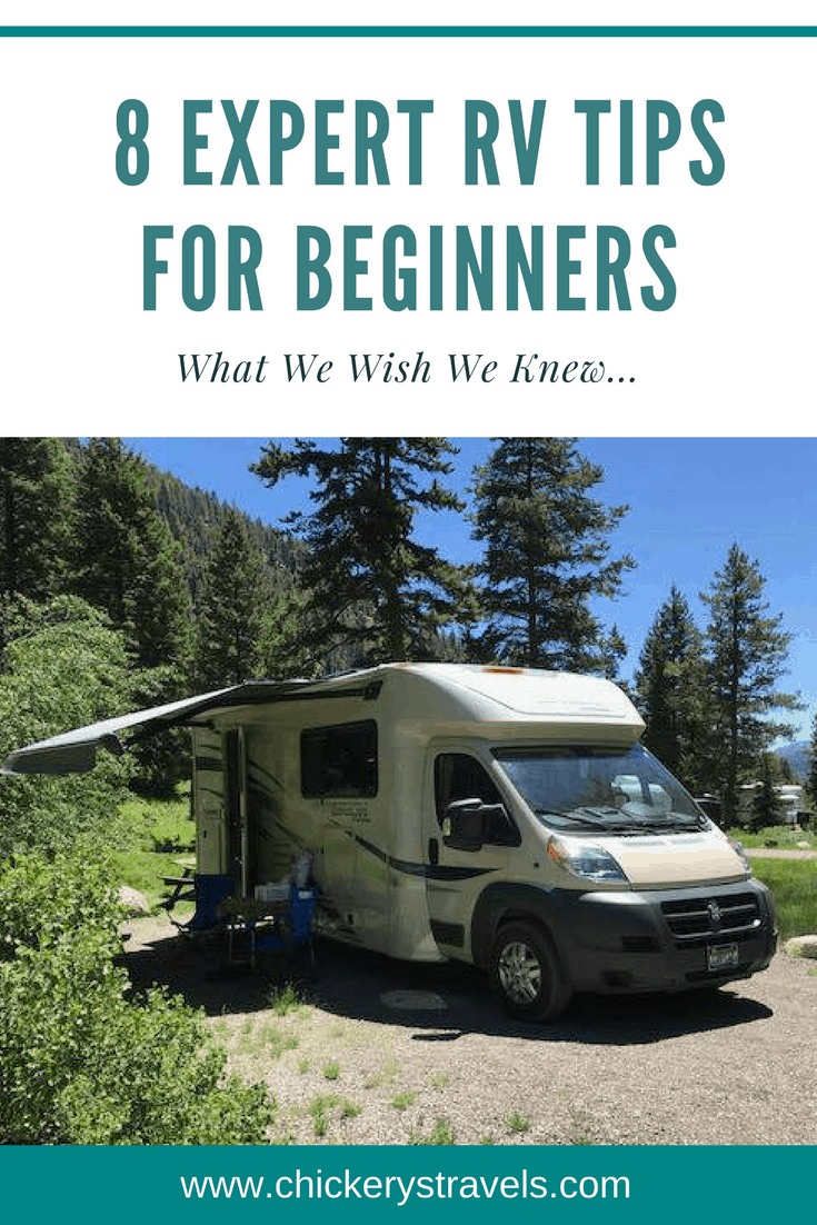 Read these 8 expert RV tips and tricks for beginners! These hacks will improve your RV living in motorhomes, 5th wheels, travel trailers, and ensure happy campers.