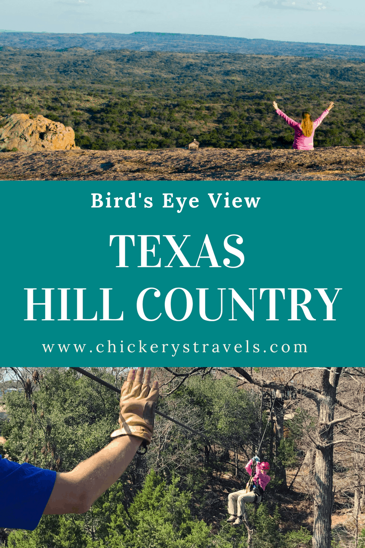 Enjoy a bird's eye view of Texas Hill Country by hiking at Enchanted Mountain State Park or zip lining at Cypress Valley Canopy Tours.