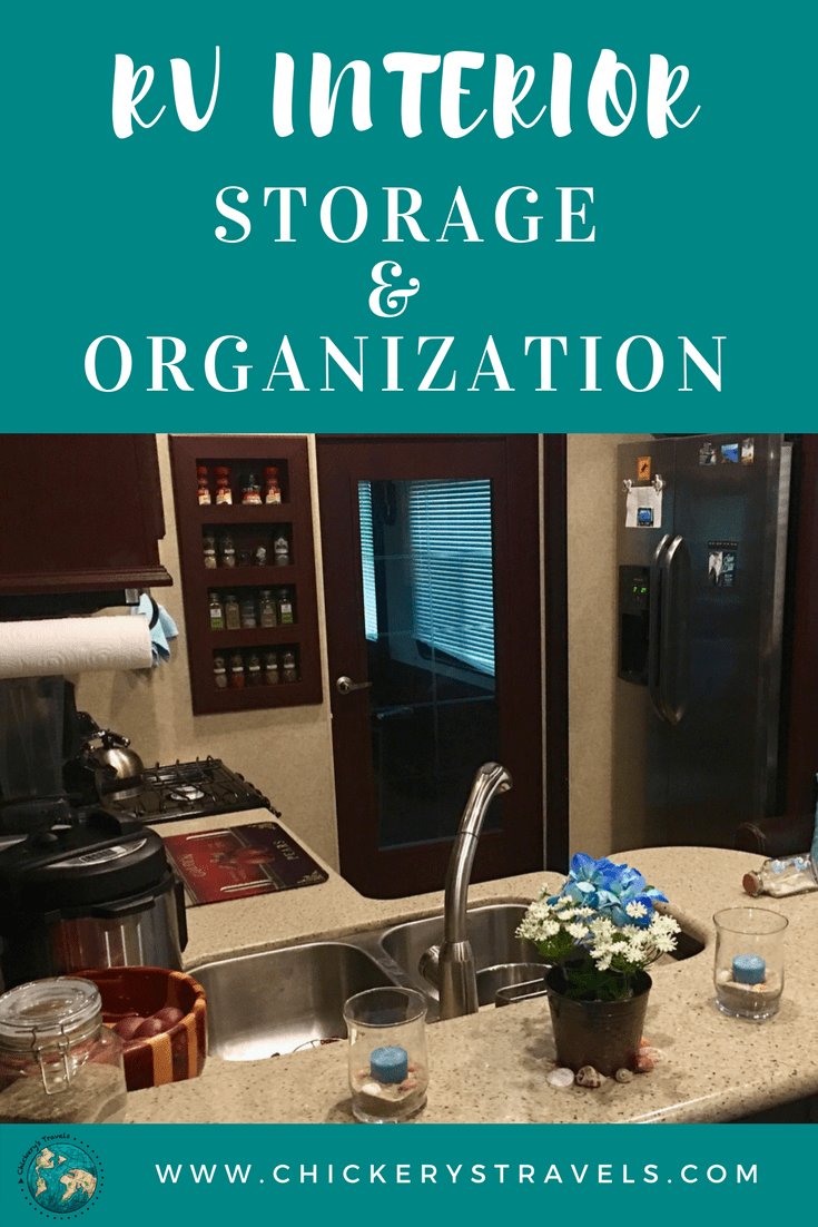 Read about these ideas for RV Storage and Organization to help you keep your small space in order. These camper organization tips and ideas can help you keep everything in its place and easy to find when you need it.