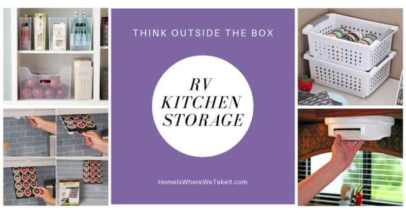 Terrific RV kitchen storage ideas and tips!