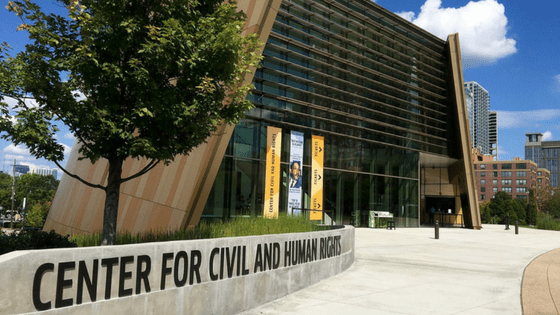 The National Center for Civil and Human Rights in Atlanta is a museum not only focuses on the challenges and progress of the civil rights movement in the United States, but also includes the broader worldwide human rights movement.