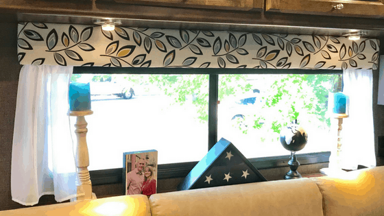 Update your RV window boxes, valances, or cornices with fresh fabrics. Banish the brown RV interior forever!