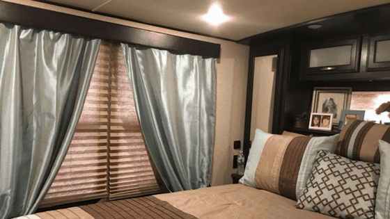 For a simple way to update an RV bedroom during your remodel, consider colorful curtains. One of the best ways of rejuvenating your dark RV interior is by updating your RV window treatments. Check out these simple, affordable RV window treatment ideas.