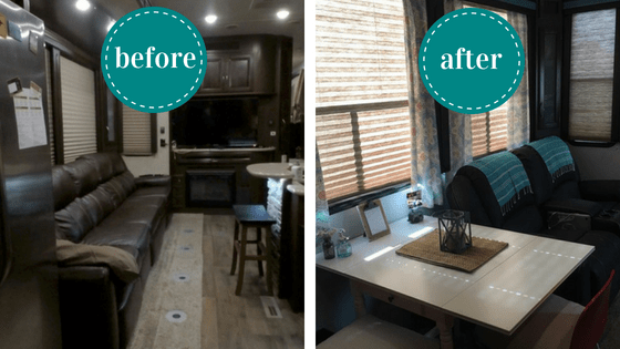 Changing out your RV furniture is easier than you think! It's a great way to makeover your small space and make it work for you!