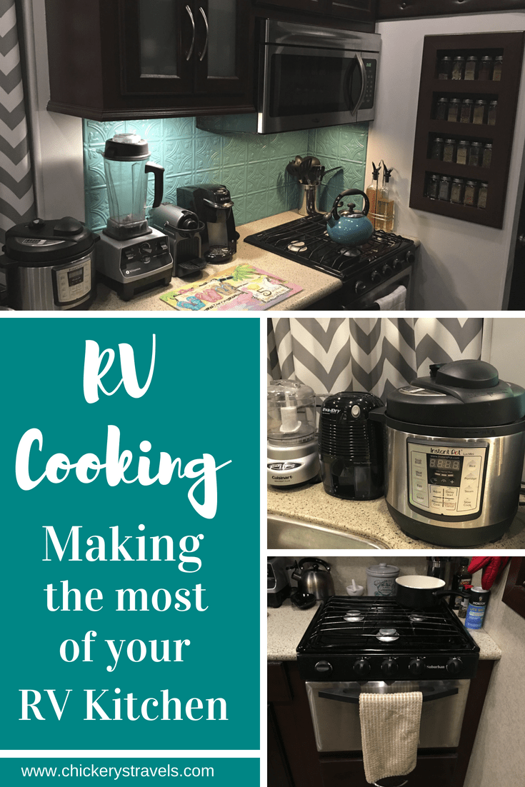 Get easy recipes and meal planning ideas to cook for two in your RV (motorhome, fifth wheel, or travel trailer). Make the most of your small kitchen appliances and gadgets and eat healthy whether you are on vacation or RV living.