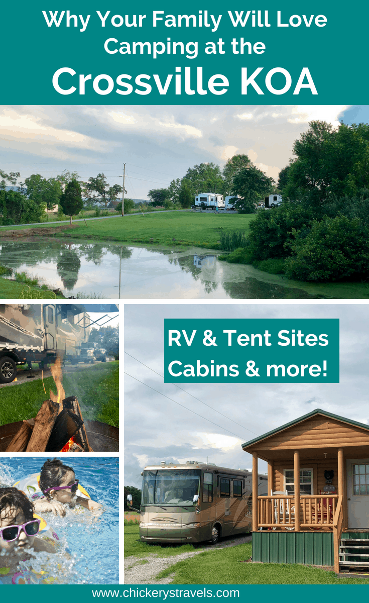Learn why your family will love the Crossville KOA campground. Set in an idyllic location near waterfalls, great hiking and a lake, this campground has RV & tent sites and well as cabins to rent. Amenities include a pool, game room, and more!