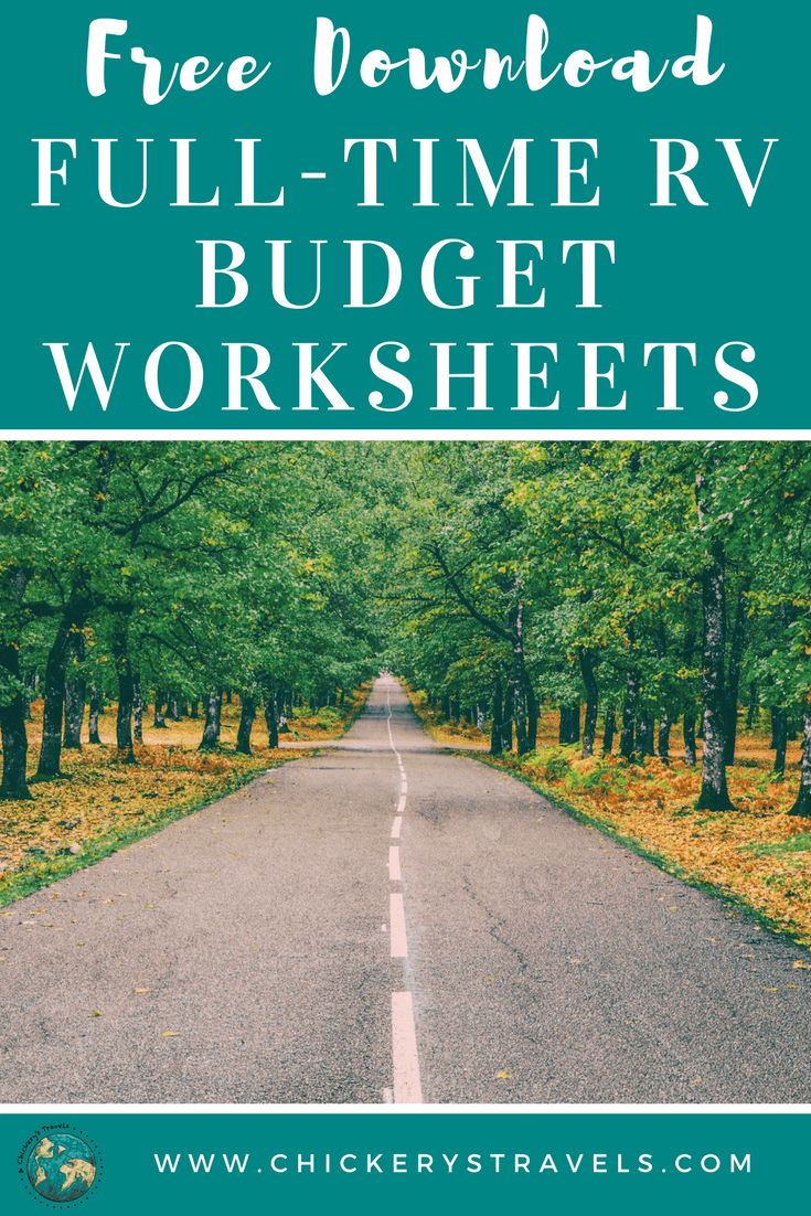 Download these free worksheets to help you develop your full-time RV budget. They include all expenses in a typical full-time RV lifestyle.