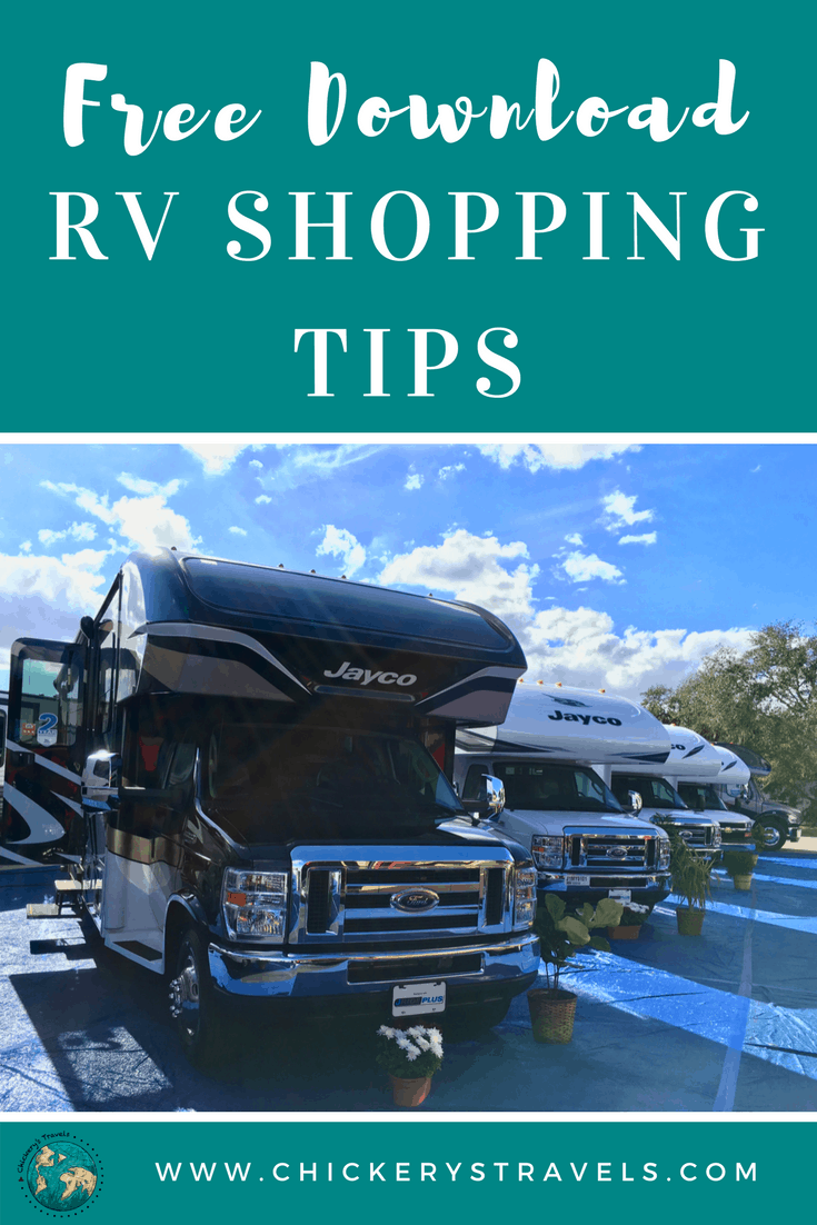 Download this free to guide to help you shop for an RV. Include tips for buying new or used. Get the most for your money when shopping for a new RV, camper or travel trailer.