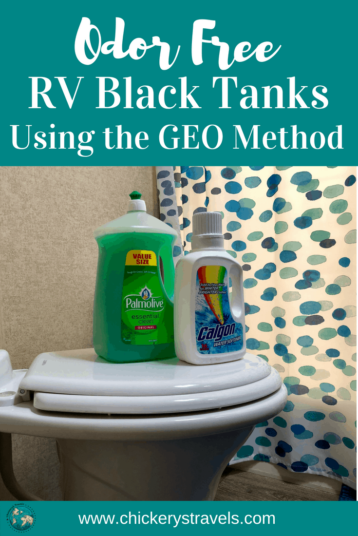 No matter what type of RV you own, you'll need to flush and clean your black tank! Follow our simple GEO method for maintaining odor free holding tanks in your camper. #motorhome #fifthwheel #traveltrailer #camper #sewagetanks #5thwheel #rvtank