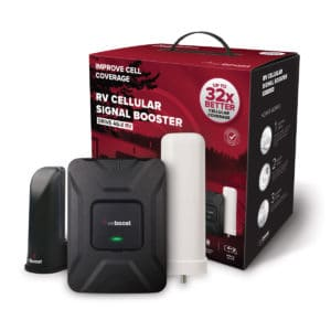 If you need to stay connected while traveling in your RV or camper, consider the Weboost cellular signal booster. Use your cell phone to access the internet on your next road trip and keep everyone happy campers.