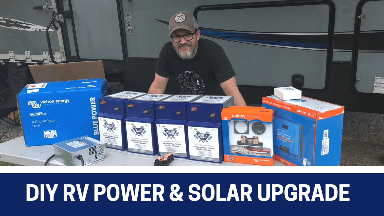 Read about this simple DIY RV power and solar upgrade. I share my process and all costs.