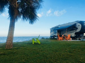 If you're looking for a wonderful military campground, check out these Waterfront RV sites at Patrick AFB in Cocoa Beach, Florida.