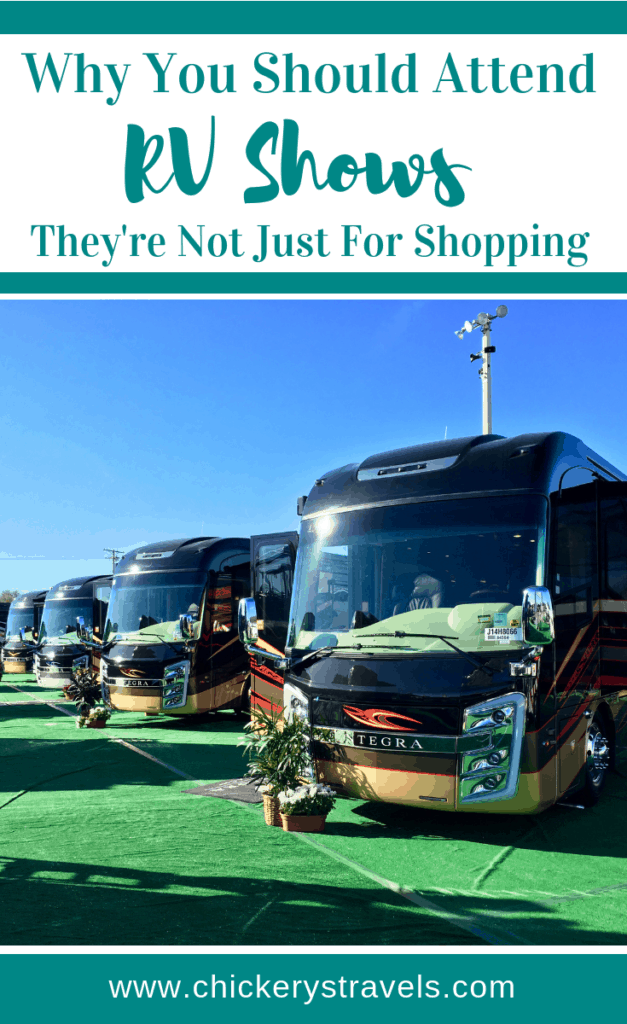Learn why you should attend an RV show even if you aren't in the market for a new RV! RV shows are for all camping enthusiasts. There are seminars, vendors, campgrounds, along with RVs and campers of every type including motorhomes, fifth wheels, travel trailers, and campers.