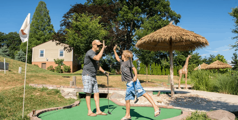 There are so many amenities at Cherry Hill Park near Washington DC. Amenities include: Fishing Pond, Two Dog Runs, Hiking Trail, Camp Store, Restaurant, Bus Depot, Sightseeing Sessions, Swimming Pool & Hot Tub, Splash Park, Tractor Rides, Summer Movie Nights, Playgrounds, 18 Hole Mini Golf