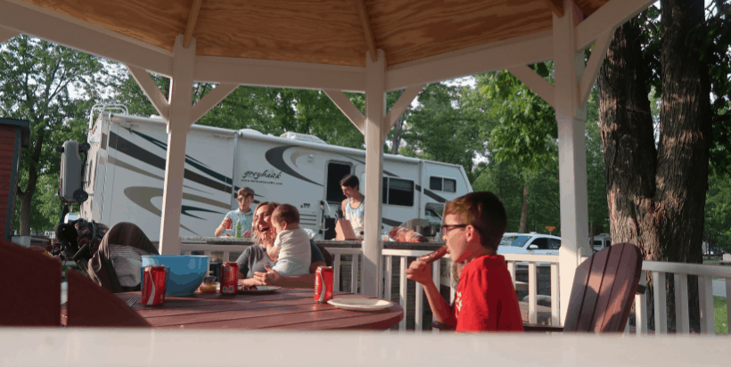 The entire family will enjoy a stay at the Port Huron KOA in Kimball, Michigan.