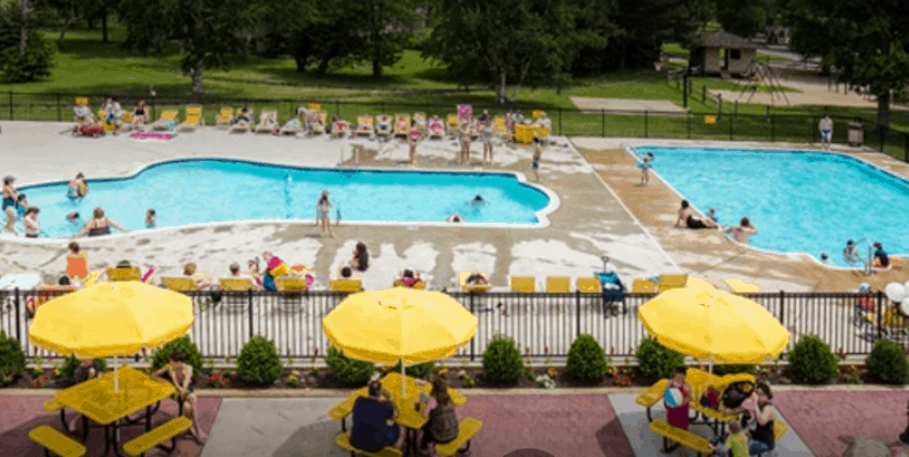 There are activities for everyone at the Port Huron KOA including 3 pools, golf cart rentals, an indoor fitness center, and scheduled kids' activities galore in the summertime.