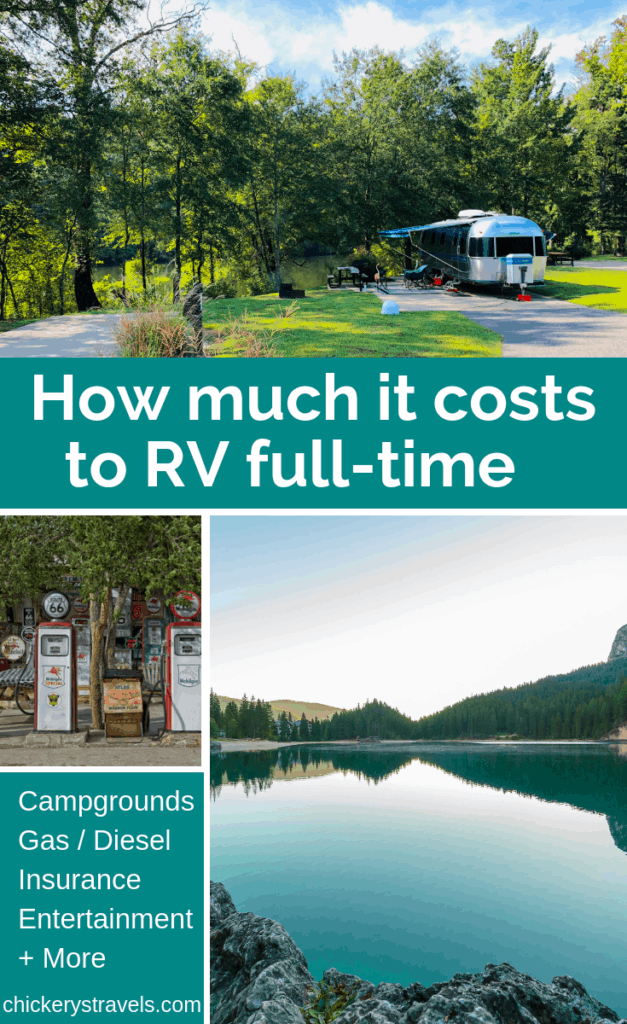 Learn how much it costs to live and travel full-time in an RV. We cover every expense for one full year of RV travel. We also explain variables that apply to motorhomes, fifth wheels, travel trailers and campers.