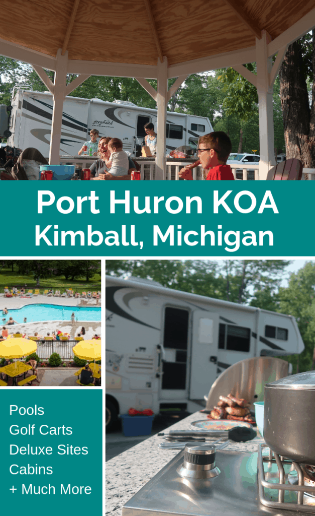 Port Huron KOA is a water wonderland! Located on St. Clair River and Lake Huron, you are sure to enjoy all it has to offer.  Deluxe Sites, Cabins, swimming pools, and much more!