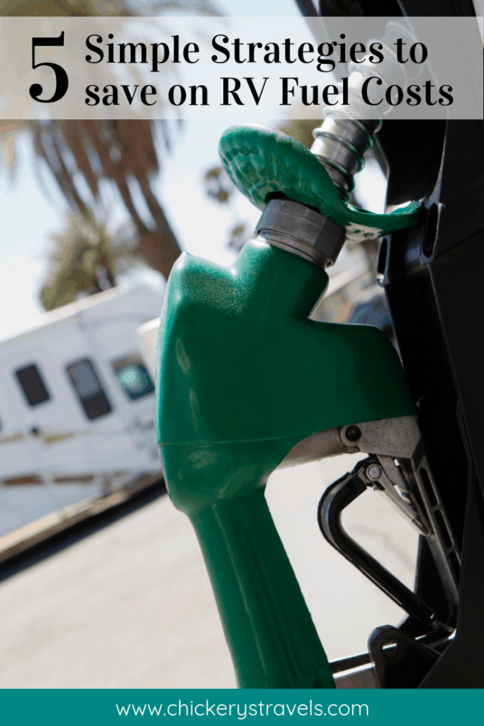 Learn how to save on gas during RV travel. These simple strategies can be used by all campers whether you have a motorhome, fifth wheel, travel trailer or even a pop up camper. They also apply to both diesel and gas engines, and your tow vehicle.