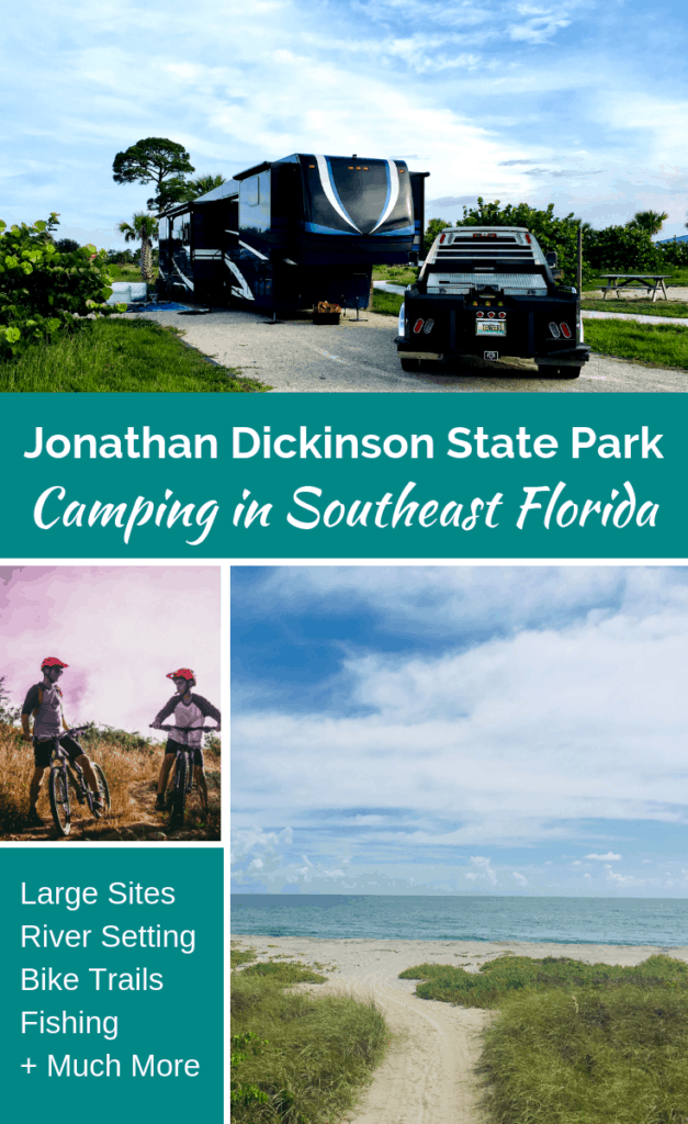 Jonathan Dickinson State Park is a great family camping location. No matter what type of RV you travel in, motorhome, Fifth Wheel, travel trailer, or pop up camper, this Florida State Park has something for you. With large sites and tons of activities, there is something for everyone.