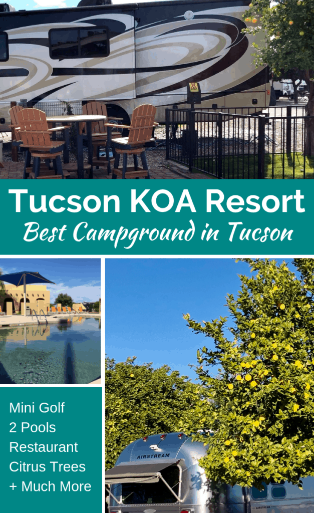The Tucson Lazy Days KOA is a resort in every sense of the word! With deluxe sites, two pools, a restaurant and bar, plus much more you can't go wrong visiting this KOA for your next RV trip. There is a site for everyone whether you are camping in a motorhome, fifth wheel, or pop up camper. There are enough activities for the entire family to be happy campers.