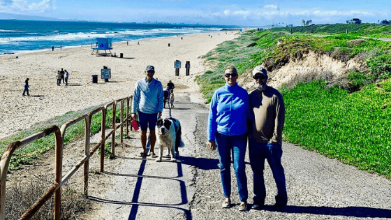 The Huntington Dog Beach is not far from the Military Campground on Seal Beach Naval Weapons Station.