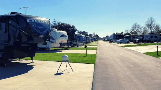 The roads are a little narrow at the military campground on Seal Beach Naval Weapons Station.