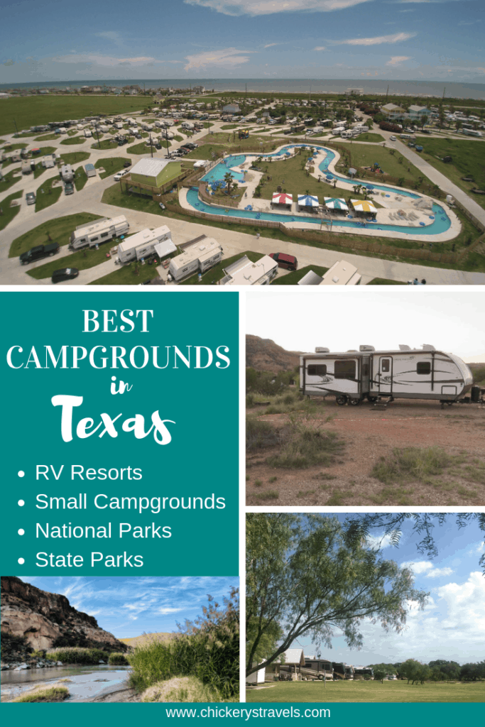 Check out this list of the best campgrounds, RV resorts and parks in Texas. Whether you prefer camping at National Parks, State Parks, or RV Resorts with all the amenities, we've got you covered.