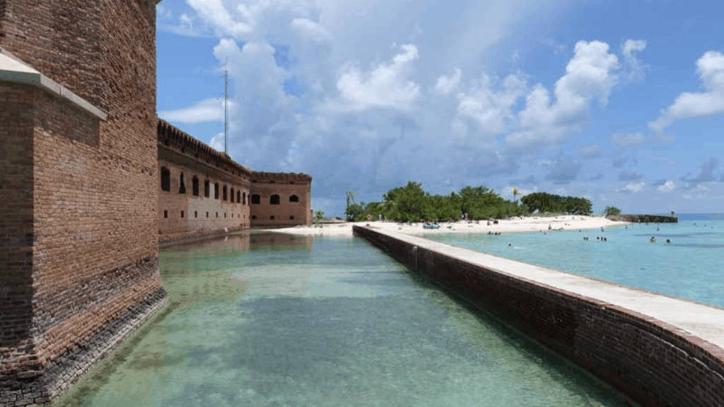 Dry Tortugas National Park is an island around 70 miles southwest of Key West, it is considered one of the most remote National Parks in the United States.