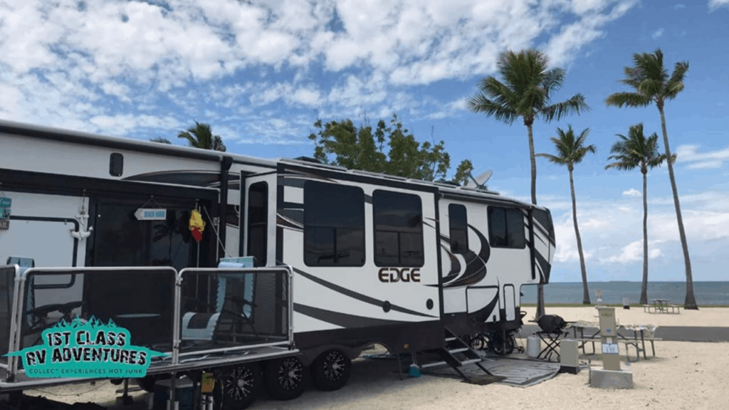 We loved staying at Sunshine Key RV Resort & Marina in Big Pine Key, Florida  so much that we ended up extending our stay. It was magical every time we looked out the windows or walked out our front door. The ocean surrounds the entire park and its location is perfect.